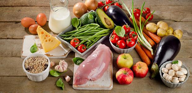 主食、副食、副菜をバランスよく摂る
