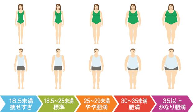 肥満度の基準